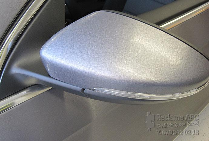 Reclame ABC car wrappen mat zilver