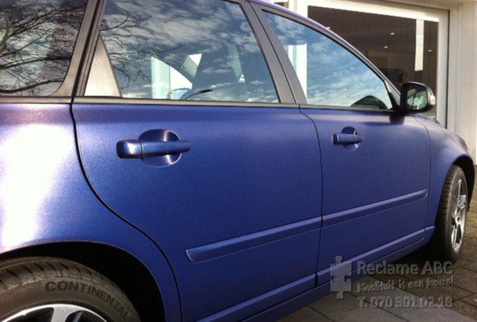 Reclame ABC car wrappen blauw
