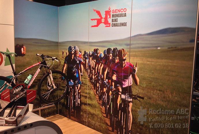 Reclame ABC groot formaat printen Genco mongolia bike challenge