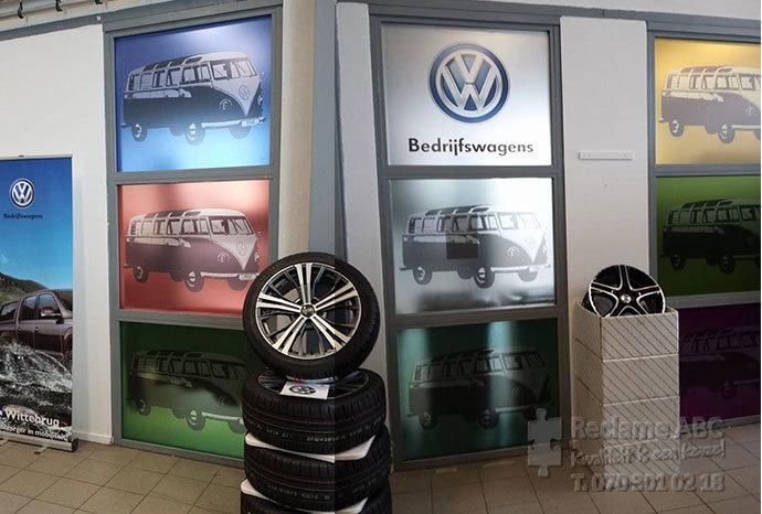 Reclame ABC groot formaat printen Volkswagen bedrijfswagens