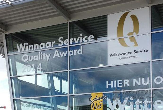 Reclame ABC groot formaat printen Wittebrug winnaar service quality award