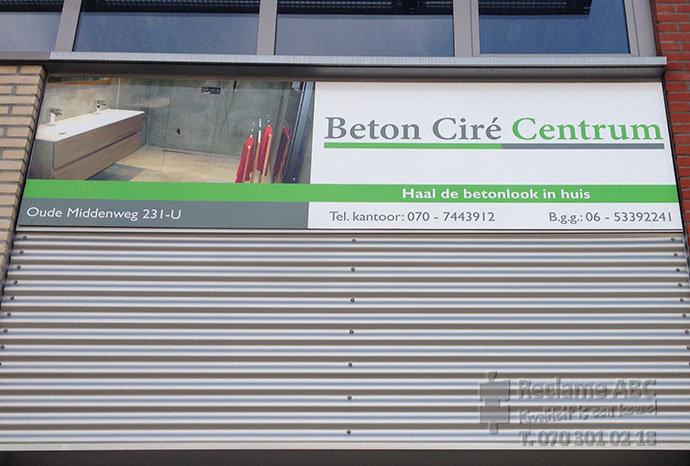 Reclame ABC reclameborden Beton Ciré Centrum