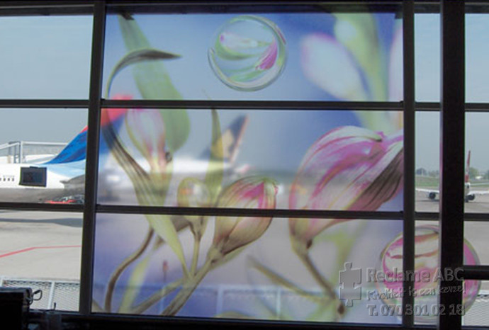 Reclame ABC windowfilm bloemen afbeelding